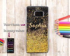 personalized name text initial case gold bling by VantasiResin
