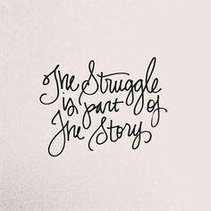 Struggle through...