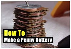 How To Make a Penny Battery - SHTF, Emergency Preparedness, Survival Prepping, H. >> Learn even more at the image link Survival Food, Outdoor Survival, Survival Knife, Survival Prepping, Survival Skills, Survival Stuff, Survival Quotes, Survival Videos, Survival Hacks
