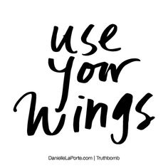 use your wings // danielle laporte