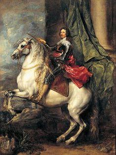 Anthony van Dyck, Equestrian Portrait of Tommaso Francesco of Savoy,  Prince of Carignano, c. 1634 - 1635