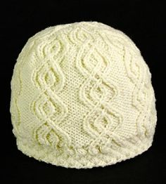 Black and White:  Part 2 White.  This is the same hat as the grey one, but made in a round.