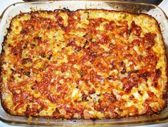 Hawaiian Pizza, Lasagna, Food Art, Good Food, Food And Drink, Cheese, Homemade, Baking, Ethnic Recipes