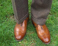 TNSIL Business Country (Fall/Winter) BB Donegal 3/2 sack suit, Allen Edmonds McAllister short wings in walnut