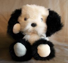 Fairview Plush Dog Stuffed Animal Border by OnceAgainTreasure