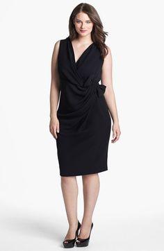 tadashi shoji lace inset sheath dress (plus size) | nordstrom