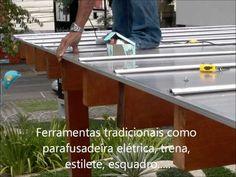 Pergolado de madeira com policarbonato alveolar - instalação