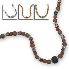 Handmade African Trade Bead Fashion Necklace
