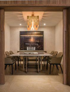 Sala de jantar com mobiliário contemporâneo, by Fabio Morozini