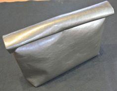 diy leather roll clutch
