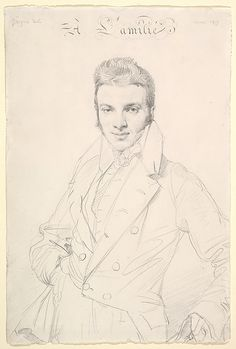 Portrait of Jean-Joseph Fournier, 1815.  By Jean-Auguste-Dominique Ingres…