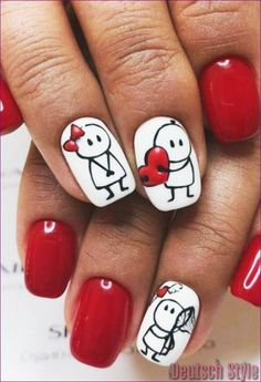 70 Cute Valentine Nail Art Designs for 2019 Nails Community. Showing the best of women's beauty💎 Nail art lovers Diy Valentine's Nails, Pink Nails, Glitter Nails, Matte Nails, Acrylic Nails, Color Nails, Sparkle Nails, Black Glitter, Disney Nails