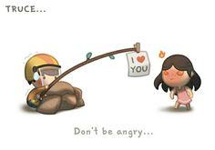 Te amo... No te enojes