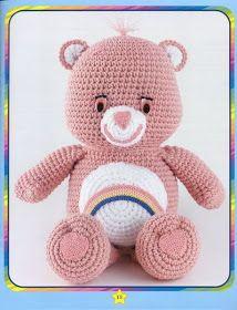 Crocheted Care Bears 10 Different Care by ClassicVintageLady Crochet Gratis, Crochet Amigurumi, Crochet Bear, Cute Crochet, Crochet Animals, Crochet For Kids, Crochet Dolls, Crochet Teddy Bear Pattern Free, Amigurumi Doll