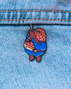 Image of CHUNKY SPIDERMAN ENAMEL PIN - Visit to grab an amazing super hero shirt now on sale!