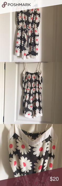 Boho romper Boho daisy romper that is so cute and flattering on! I love this romper! This is a size small/ my bust is 34 D and I'm 5'1 and it was not short on my at all. Not from Lulus Lulu's Pants Jumpsuits & Rompers