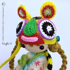 Kayla D Tiger Hat Girl PDF crochet pattern is available at Ravelry online shop