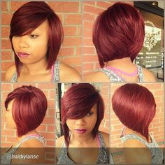 cut is gorgeous; would do this style in a light brown or blonde