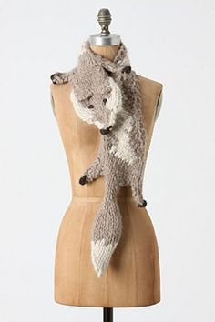 animal friendly fox scarf.... must knit