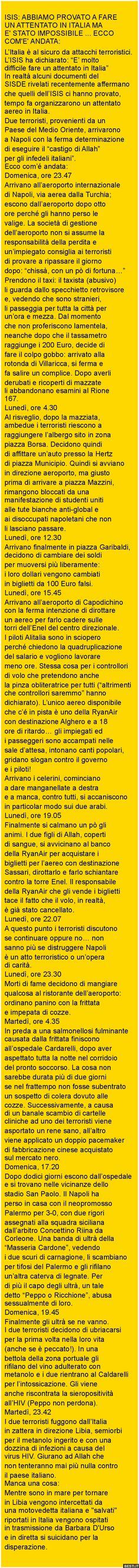 L'Italia è al sicuro