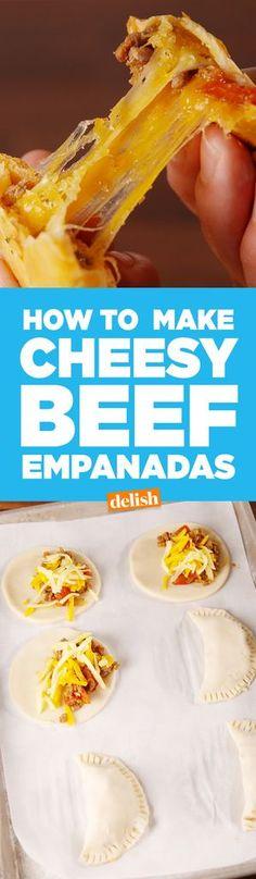 Cheesy Beef Empanadas