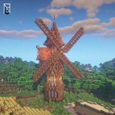 Casa Medieval Minecraft, Minecraft Farm, Minecraft Mansion, Minecraft Cottage, Cute Minecraft Houses, Minecraft Plans, Minecraft House Designs, Minecraft Survival, Minecraft Construction