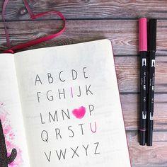 💗💗💗💗💗 Original idea from @elskeleenstra #love #birthday #alphabet #tombowusa #bujo #bujofr #bulletjournal #frenchbulletjournal #bujolover #journaling #leuchtturm1917 #misspiloute