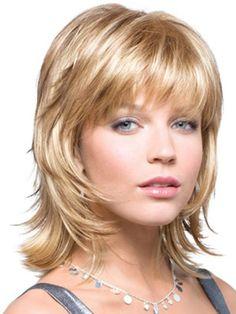 Medium shag hair cut