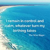 A birth affirmation from The Wise Hippo Birthing Programme, taught by Birth Harmony. It's so important to have a positive experience in birth.