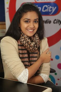 Keerthi Suresh promoting Nenu Sailaja film at Radio City