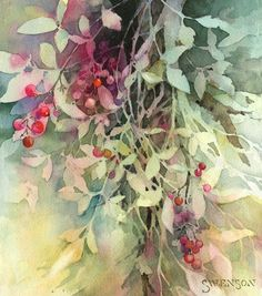 Great use of negative painting and watercolor