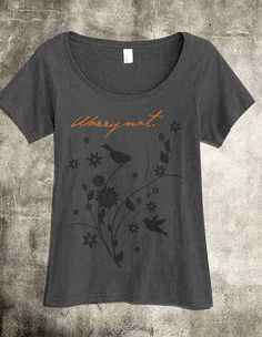 Worry Not Christian Shirt for Women - A Gray Scoop Christian Top - Christian Clothing