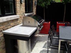 Back Yard | Urban | Garden | Landscape | Design | Grill | Planters | Concrete Countertop | Tandoor
