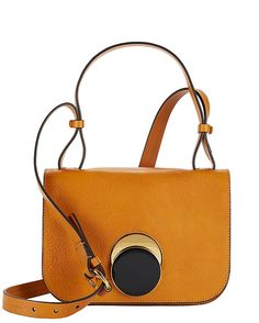 Marni Flap Circle Clasp Leather Crossbody  Mustard  A minimalist approach  that… White Leather 2ba9d0c1e6f30