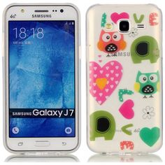 2016 Love Owl TPU Soft Gasbag Back Case Cover For Samsung Galaxy J7