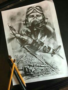 Idéia cenário de guerra tattoo - Aviador - Aviões Tatuagem Nas Costas  Masculina e7a5d811ab7