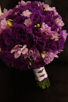 KellysFlowers_Purple Lisianthus and Lavender Freesia Bridal Bouquet.JPG
