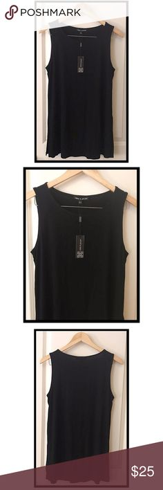63897384 NWT Cable & Gauge black sleeveless blouse Cable & Gauge, size L, NWT,
