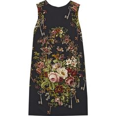 Floral-print crepe mini dress (£570) ❤ liked on Polyvore featuring dresses, vestidos, tops, dolce gabbana dresses, floral printed dress, botanical dress, floral mini dress and floral print mini dress