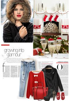 """christmas 1"" by stefyaudrey ❤ liked on Polyvore"