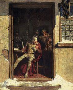 N.C. WYETH,  Follow That Lad,   Oil on Canvas