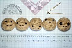 """Cuteness Deconstructed: """"What are the basics behind a cute face?"""" Amigurumi doll crochet tips Amigurumi Tutorial, Crochet Amigurumi, Amigurumi Patterns, Amigurumi Doll, Diy Crochet, Crochet Dolls, Crochet Patterns, Crochet Baby, Appliques Au Crochet"""