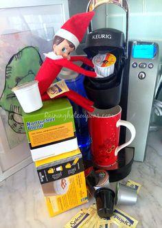 coffee lovers, coffee break, easy elf on the shelf ideas, elf shelf, morning coffee, elf on shelf ideas, 200 easi, elv, easi elf