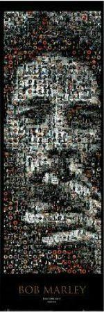 """""""RAR00521"""" Bob Marley - Smoking Joint, Mosaic (21 X 61)"""