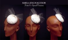 lace and veil bridal pillbox hat - cappellino sposa con pizzo e veletta