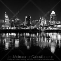 Black and White Picture of The New Cincinnati Skyline from Covington Kentucky