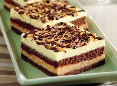 Three Layer Cheesecake Squares