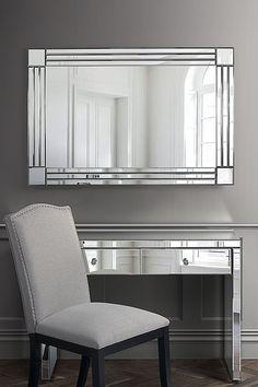 Stream Rectangle Elegant High-quality Wall Mirror | My Furniture