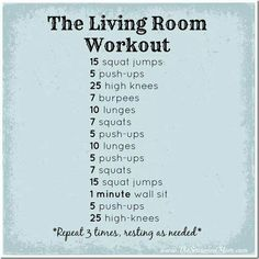 Nice at-home workout