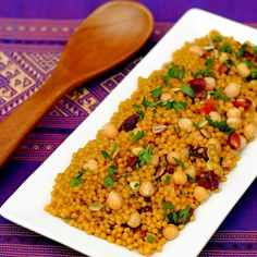 Curried Cranberry Couscous Pilaf – an easy yet elegant side dish of ...
